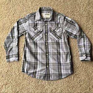 Urban Pipeline Boys Small Gray Plaid Shirt